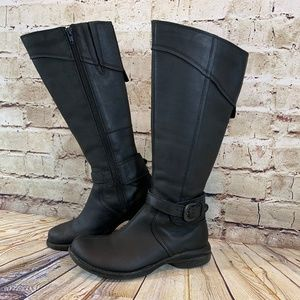Merrell Womens Black Leather Riding Boots Size 6